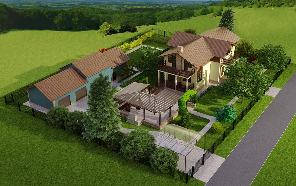 Примеры дизайна загородного участка на 10 соток - Нирвана