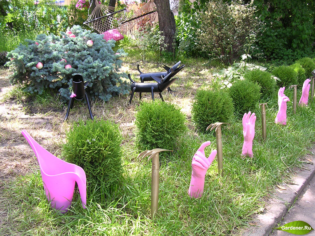 Поделки для дачи своими руками для сада и огорода 60
